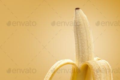 Banana peeled