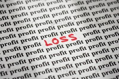 Loss in Profit