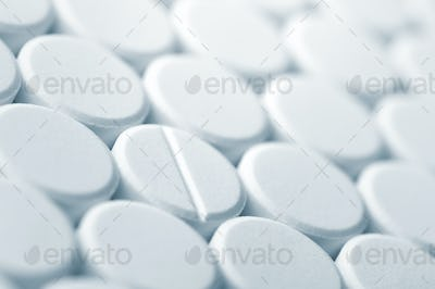 White tablet pills