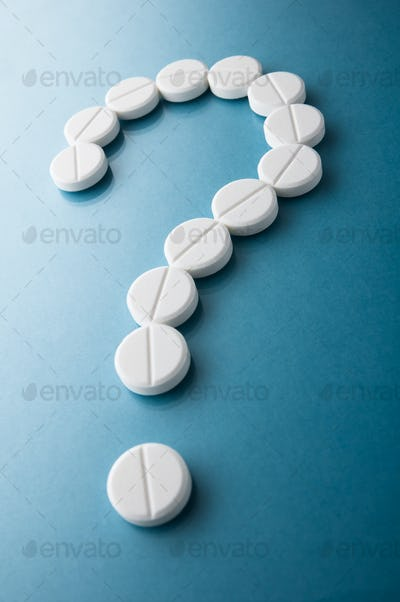 Question mark  from pills