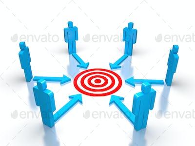 Team work for target