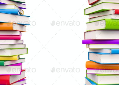 Colorful Books with copy space