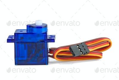 Small blue servo-unit for RC modelling