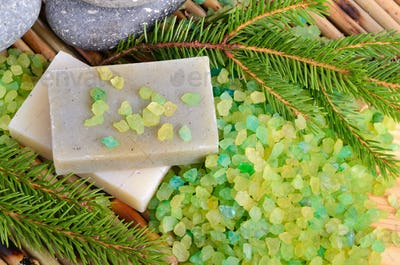 Natural pine spa treatment