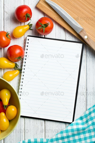 tomatoes with recipe book