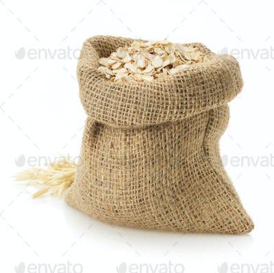 oat flake on white