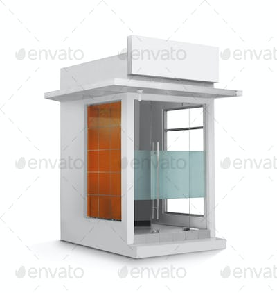 single ATM booth