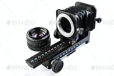 Macro bellows and lens
