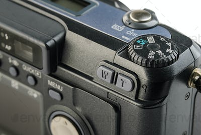 Compact digital camera control panel