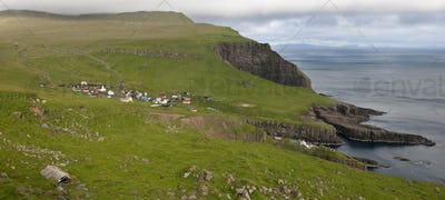 Village of the Island Mykines, Faroe Islands