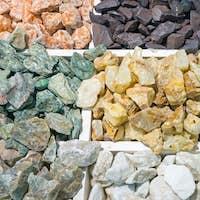 Colourful semi-precious stones