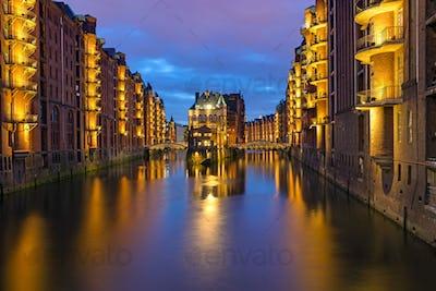 Historic Speicherstadt in Hamburg