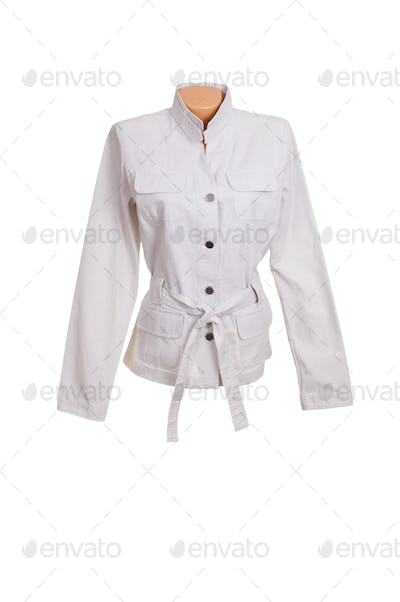 Chic stylish jacket on a white.