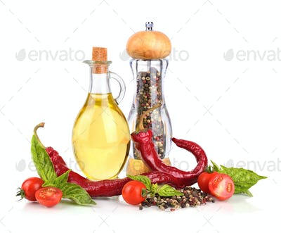 Pepper and olive oil