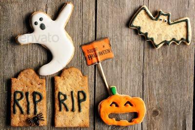 Halloween homemade gingerbread cookies