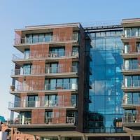 Modern apartment house in Hamburg