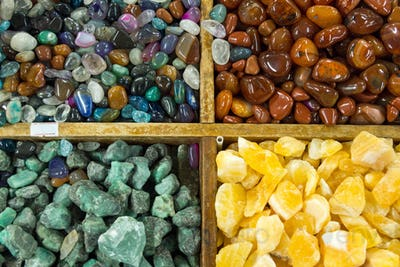 Background from semi-precious stones