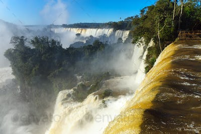 View of the Iguazu falls