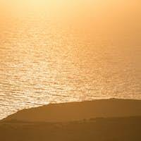 Beautiful view of the shoreline of Folegandros