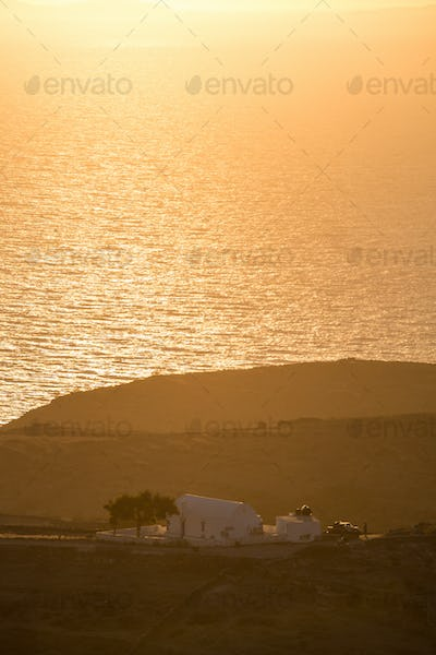 Beautiful view of the shoreline of Folegandros