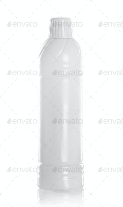 White plastic container product
