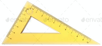 close up of a yellow ruler