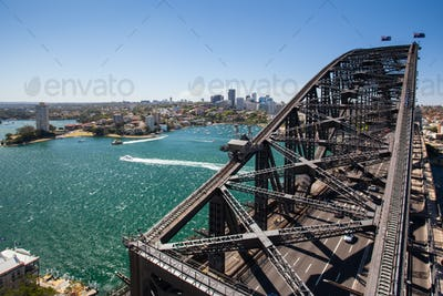 North Sydney from the Harbour Bridge