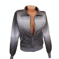 Stylish gray jacket.