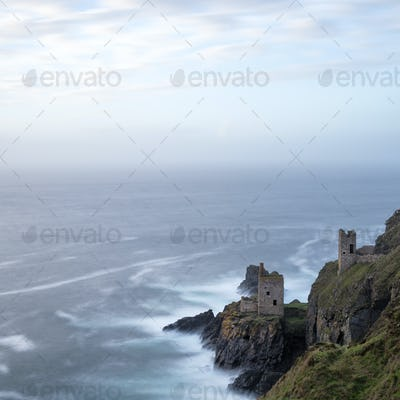 The Crowns Tin Mines at Botallack in Cornwall