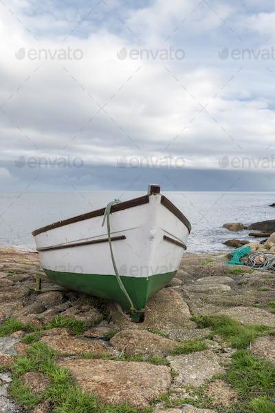 Boat at Penberth Cove in Cornwall