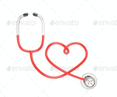 Heart shape from stethoscope