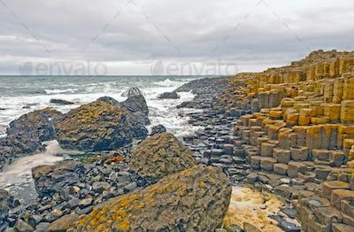 Crashing Waves on the Irish Coast