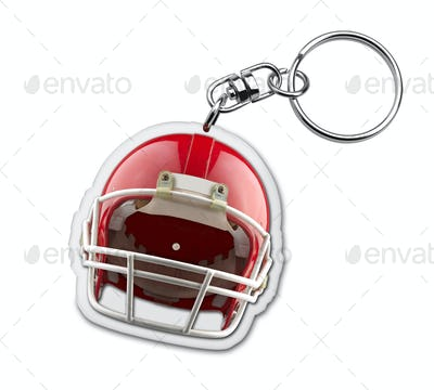 Gift keyholder with american football helmet symbol