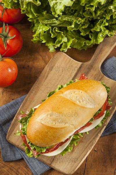 Homemade Italian Sub Sandwich