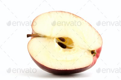 Red apple with seeds