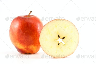 red apple and circle of apple