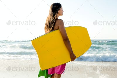 Girl with her bodyboard