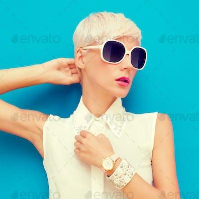 fashion portrait of sensual stylish woman