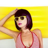 summer beach portrait of a sensual girl