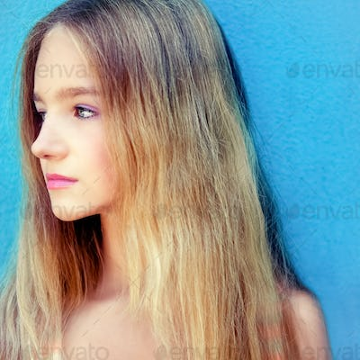 Portrait of a beautiful teen girl