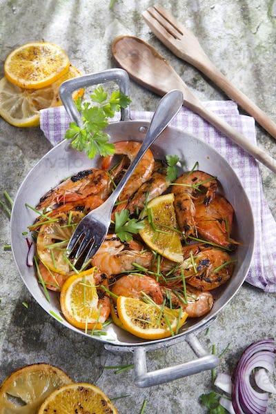 Shrimp to the stew