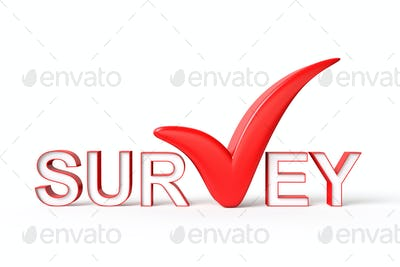 Survey with Check Mark