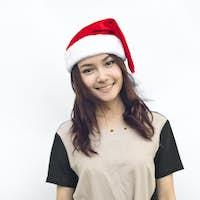 Christmas woman smiling