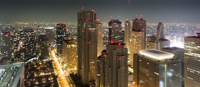 Incredible cityscape of tokyo by night, Japan