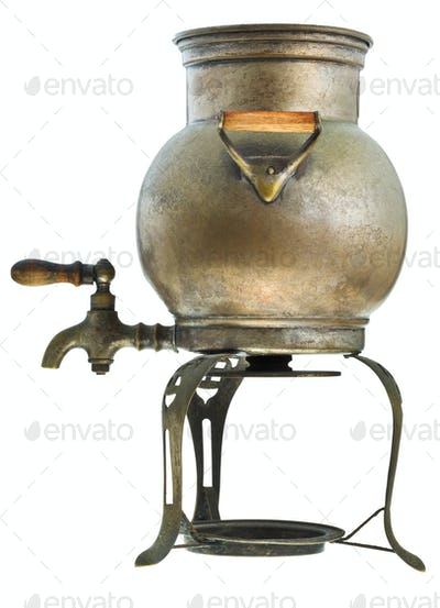 retro brass samovar