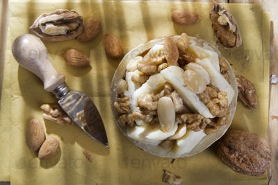 Pecorino cheese and walnuts almonds