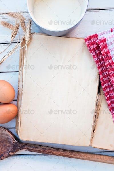 Vintage blank cookbook