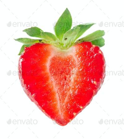 Half of strawberry