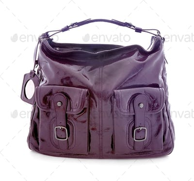 Patent leather luxury pocketed belted purse