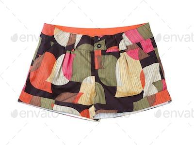 Vintage multicolor retro shorts